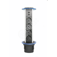 Выдвижной встраиваемый блок розеток с USB от поставщика - Мебакс