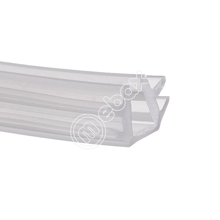 Уплотнитель П-образный Елочка для установки стекла или зеркала толщиной 4 мм в алюминиевые профили Раум+