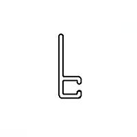 Профиль крепежный 90° (F-образный) для полосовой щетки